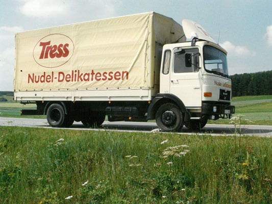 Lorry with the Tress Pasta logo, run as a Franz Tress family business